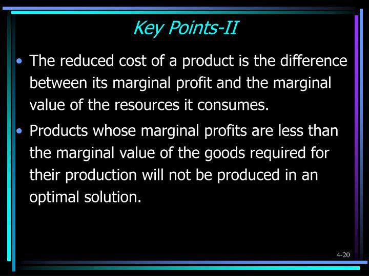 Key Points-II