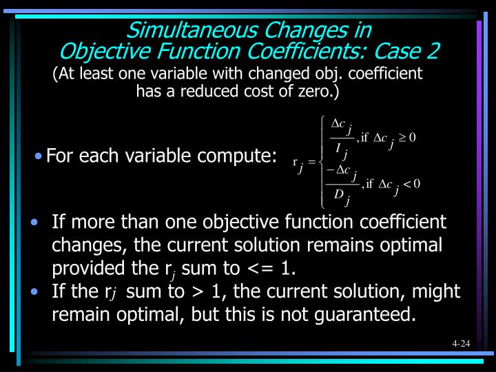 Simultaneous Changes in