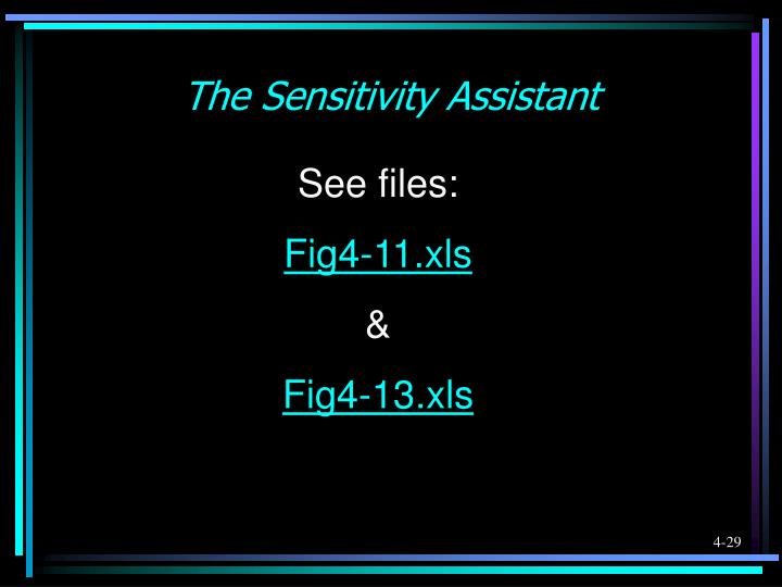 The Sensitivity Assistant