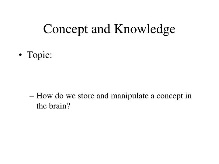 Concept and knowledge