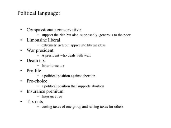 Political language:
