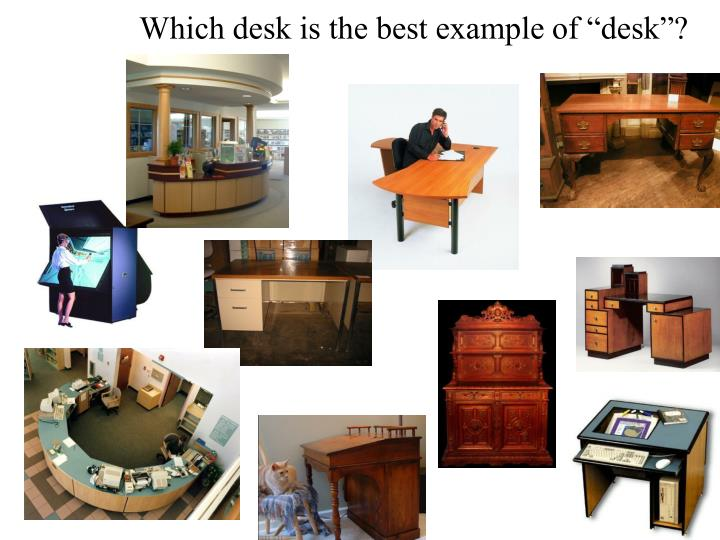 "Which desk is the best example of ""desk""?"