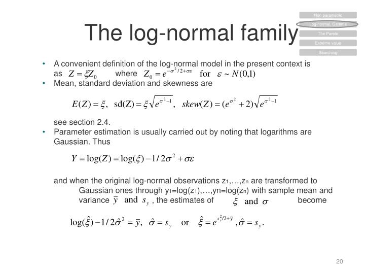 The log-normal
