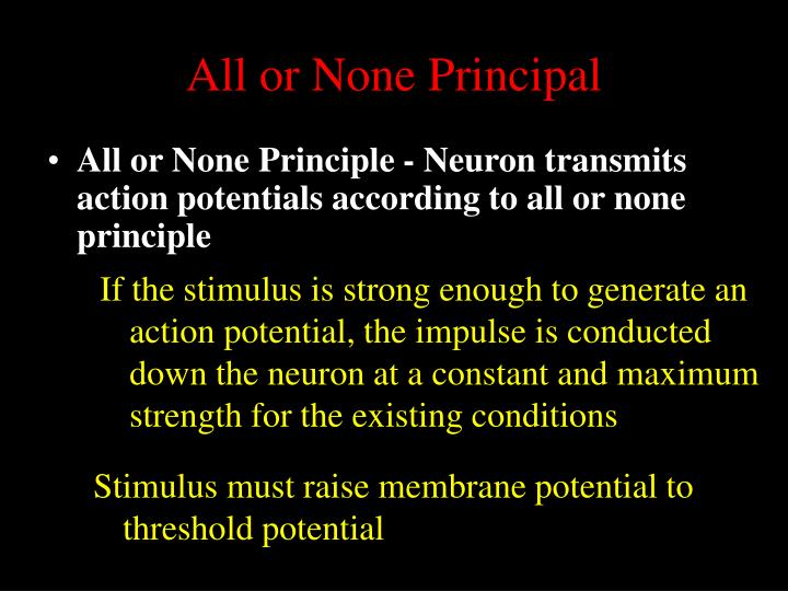 All or None Principal