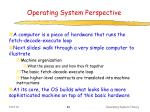 operating system perspective