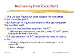recovering from exceptions