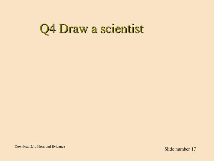 Q4 Draw a scientist