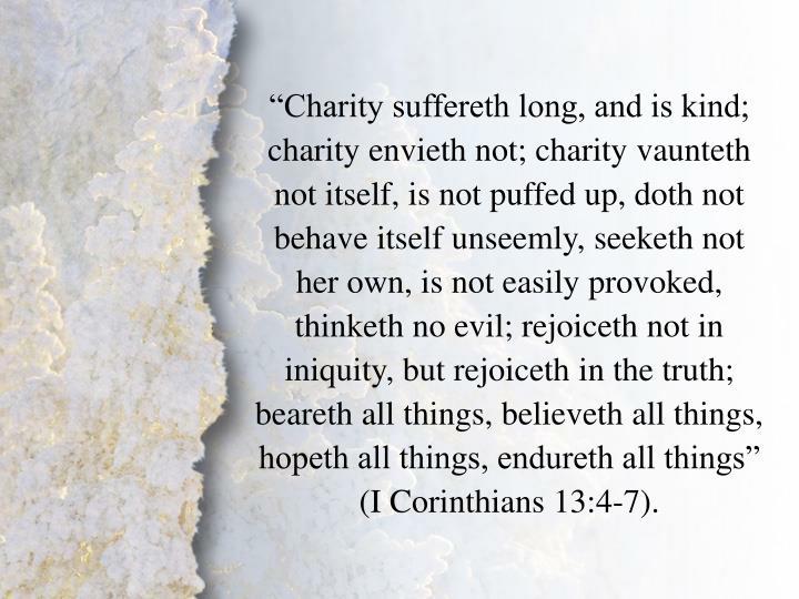 I Corinthians 13:4-7