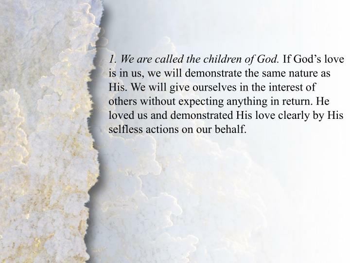 I. The Love of God (B)