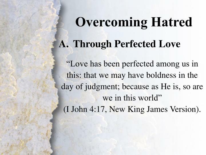 Overcoming Hatred