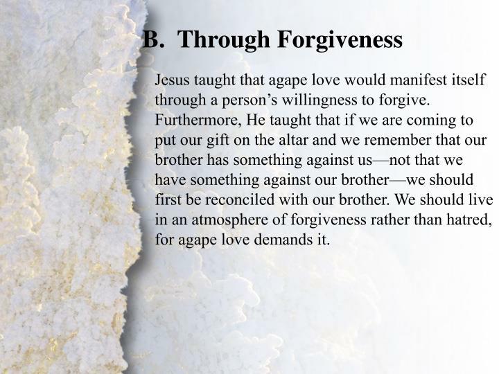 Through Forgiveness