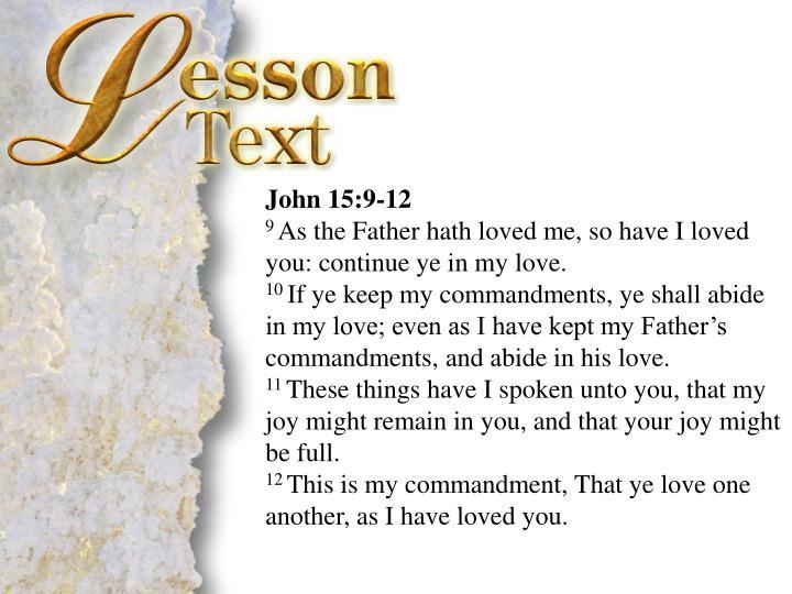 John 15:9-12