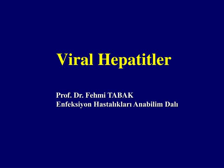 Viral hepatitler
