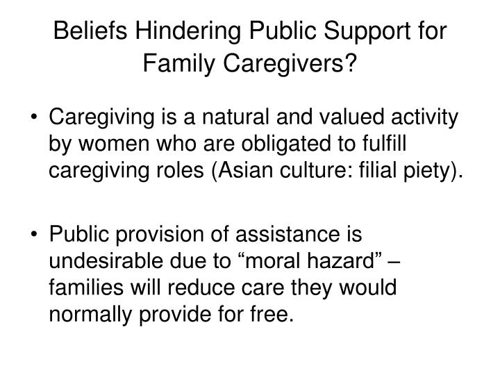 Beliefs Hindering Public Support for Family Caregivers?
