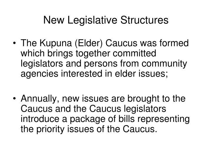 New Legislative Structures