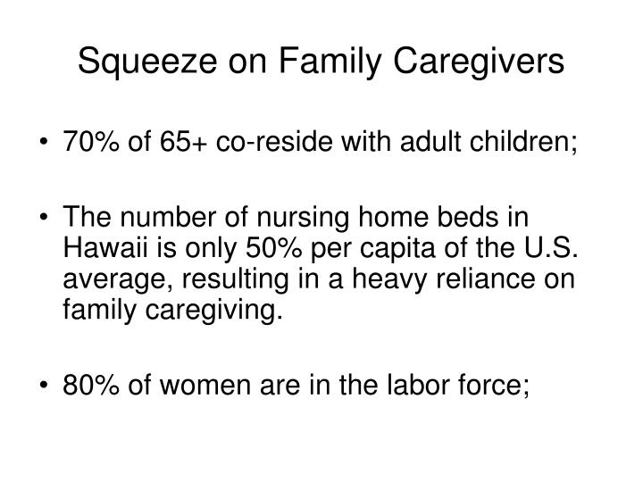 Squeeze on family caregivers