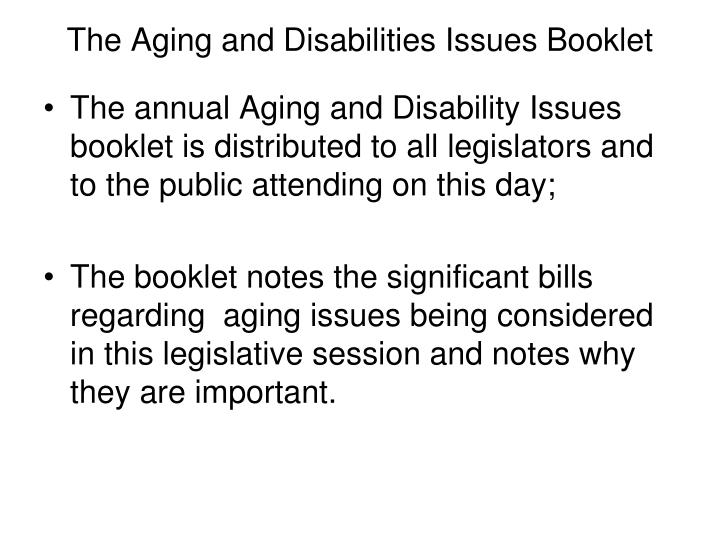 The Aging and Disabilities Issues Booklet