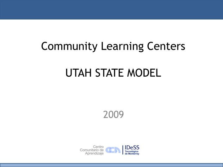 Community learning centers utah state model