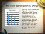 and school spending patterns change