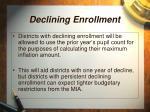 declining enrollment