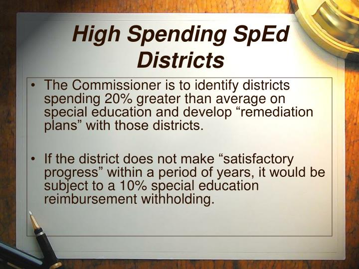 High Spending SpEd Districts