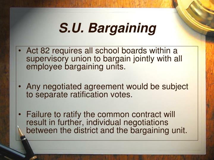 S.U. Bargaining