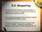 s u bargaining
