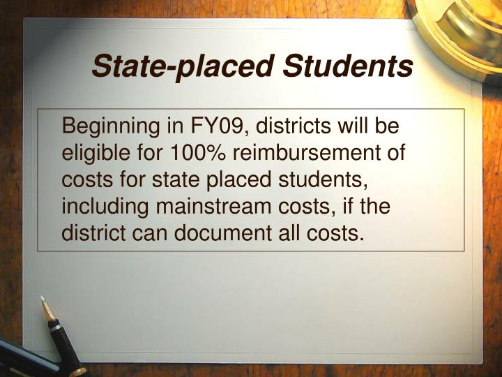 State-placed Students