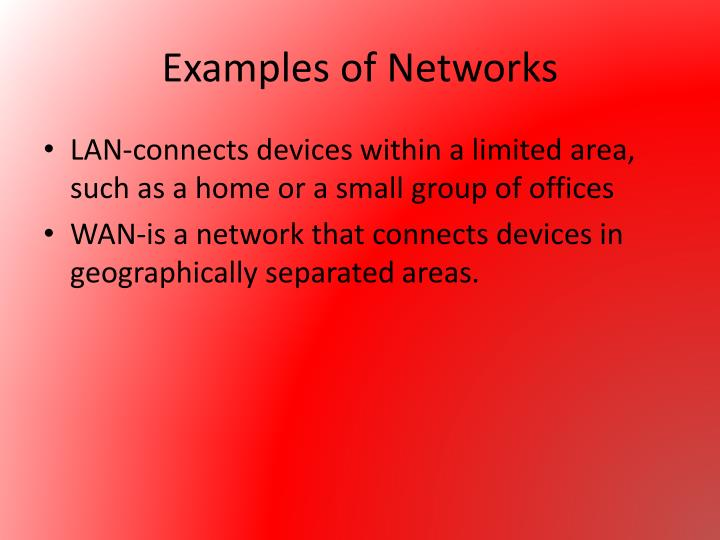Examples of Networks