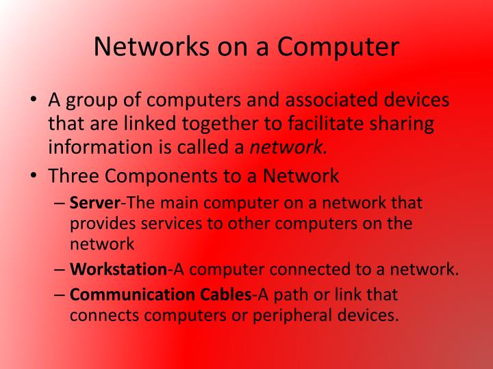 Networks on a Computer