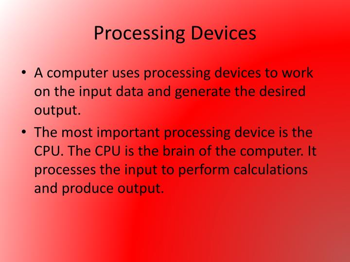 Processing Devices