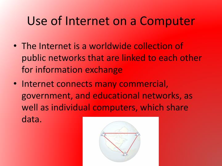 Use of Internet on a Computer