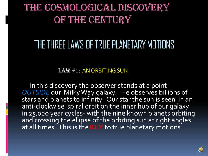 The Cosmological Discovery