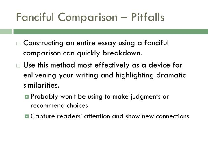 Fanciful Comparison – Pitfalls