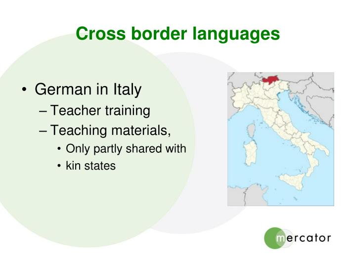Cross border languages