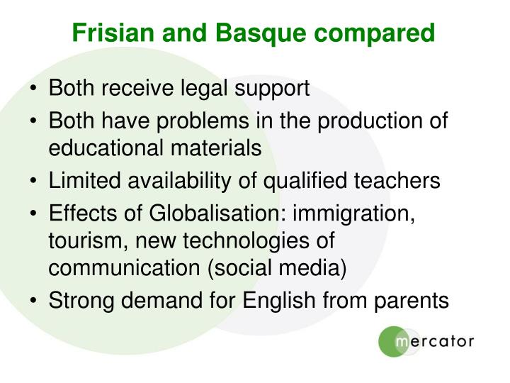 Frisian and Basque compared