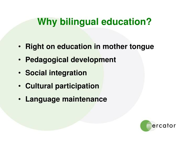 Why bilingual education?