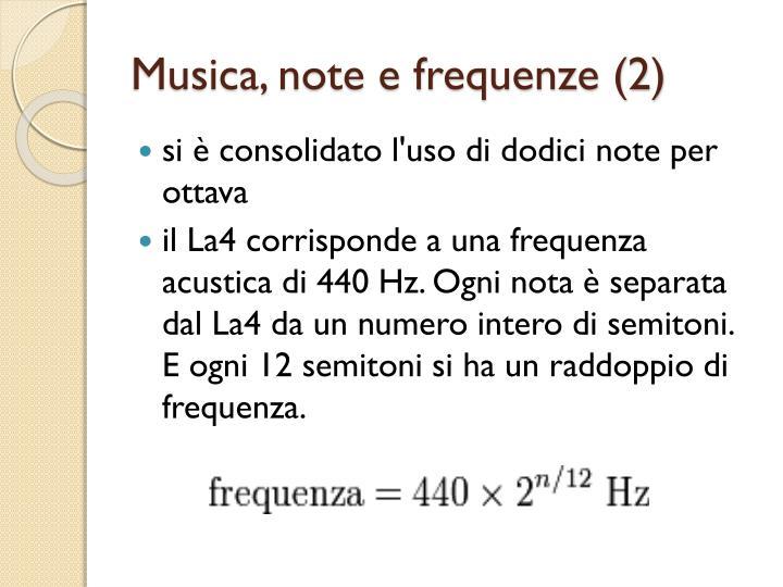 Musica, note e frequenze (2)