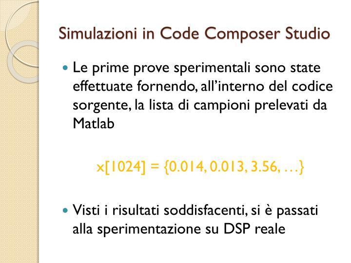 Simulazioni in Code