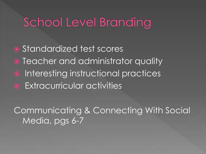 School Level Branding
