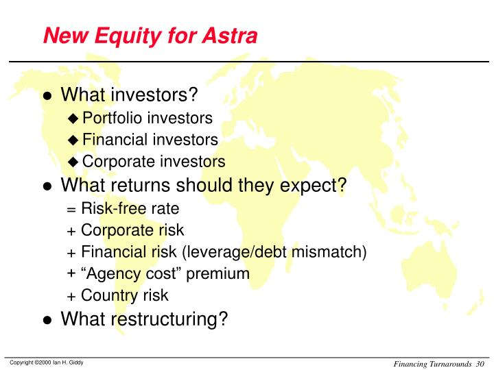 New Equity for Astra