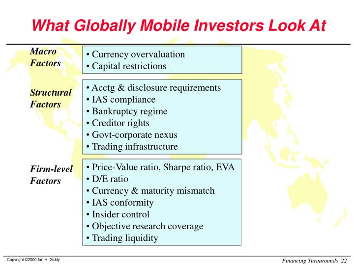 What Globally Mobile Investors Look At