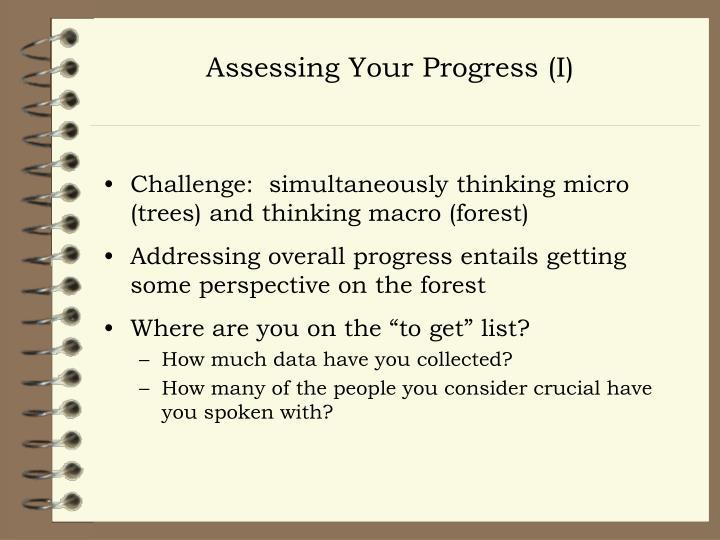 Assessing