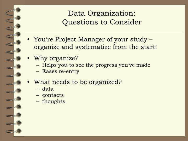 Data Organization: