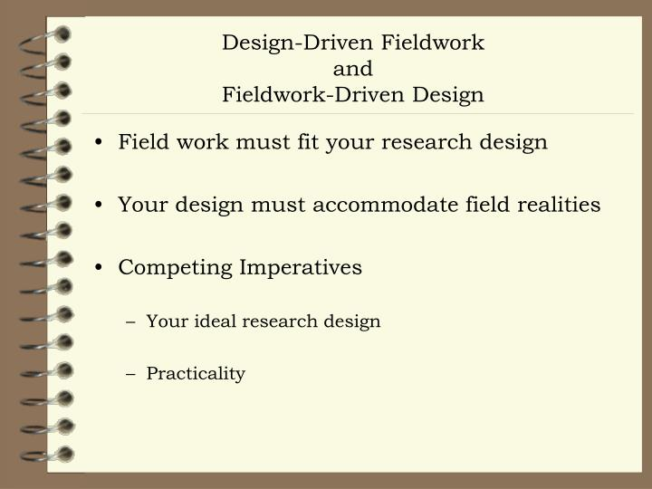 Design-Driven Fieldwork