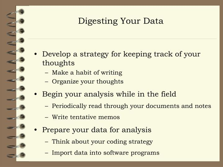 Digesting Your Data