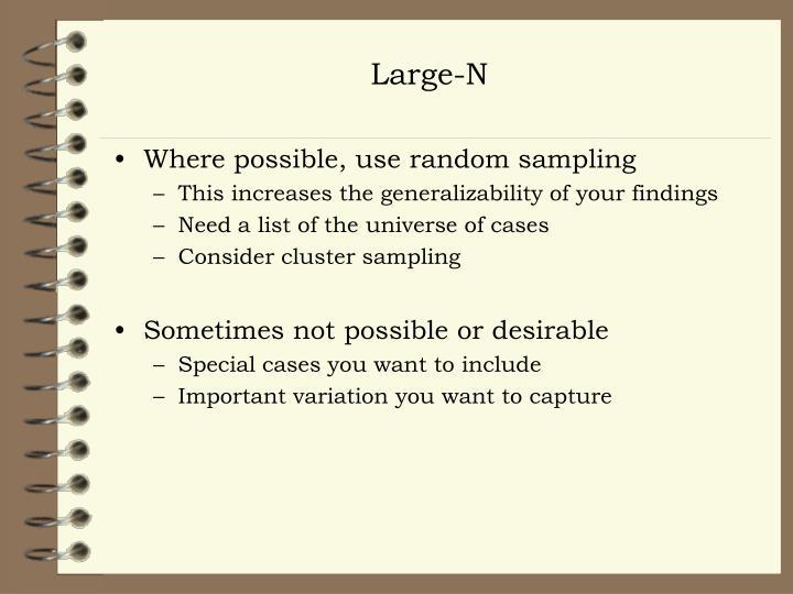 Large-N