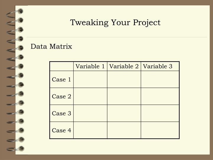 Tweaking Your Project