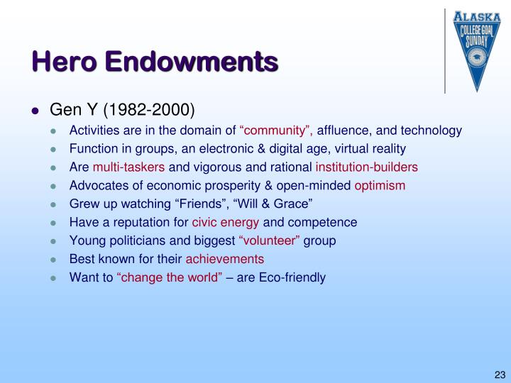 Hero Endowments
