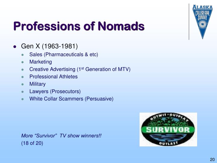 Professions of Nomads